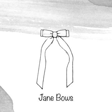 Бантики Jane из бархатной ленты